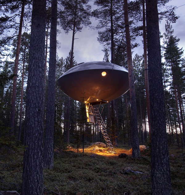 UFO Treehouse at Sweden's Treehotel