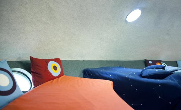 UFO treehouse interior