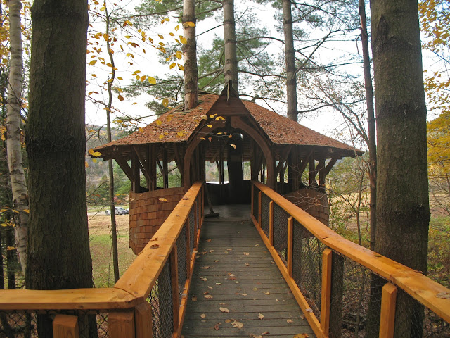the treehouse that yestermorrow treehouse school built