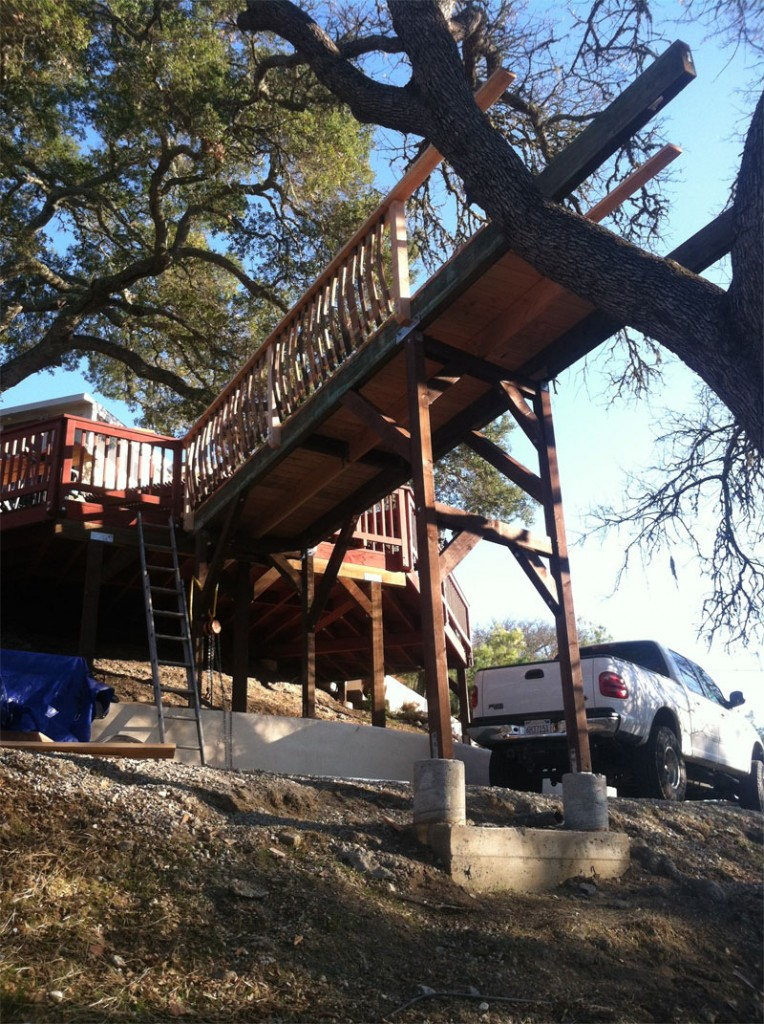 treehouse patio bridge