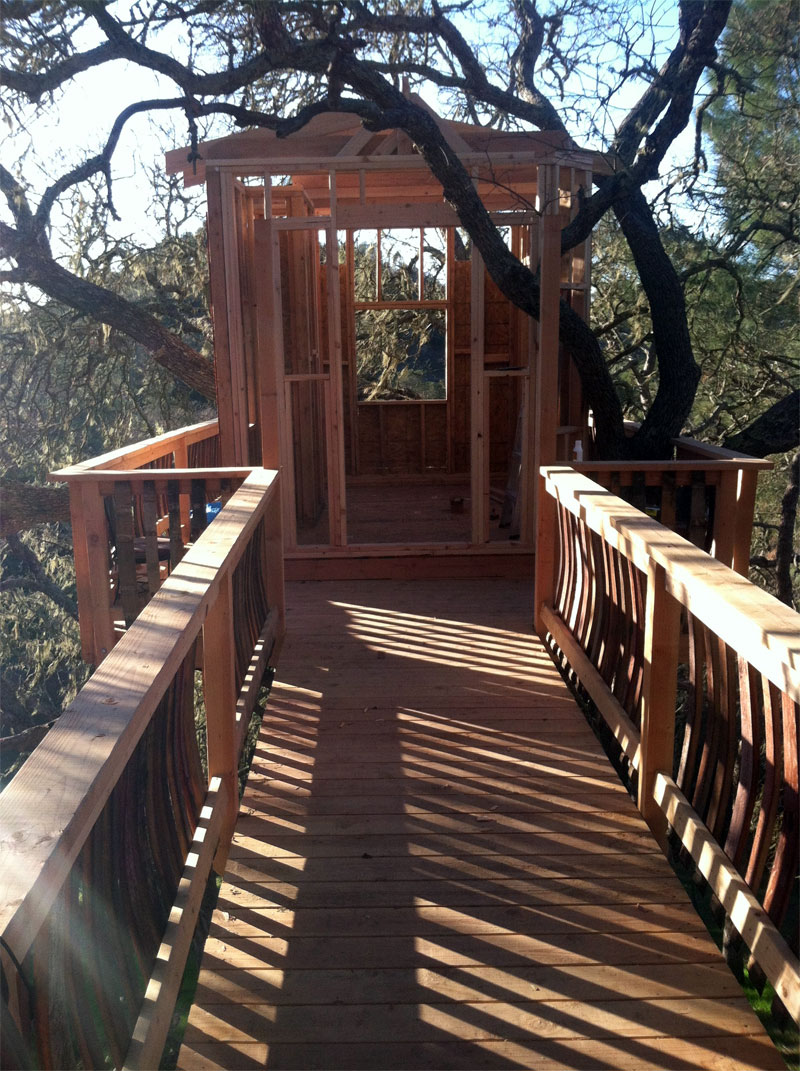Arborcasa Built Treehouse With Bridge Treehouse By