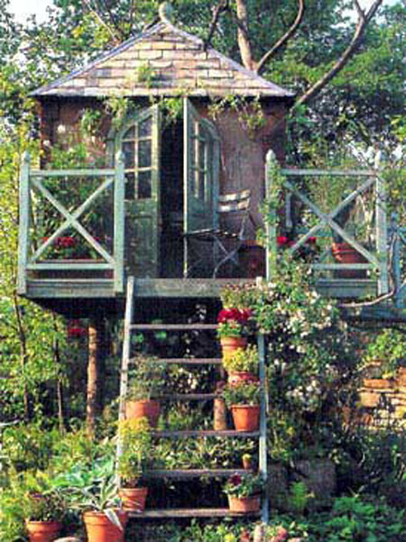 treehouse gardening with containers