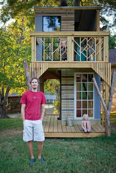 Treehouses built by kids: 78 designs